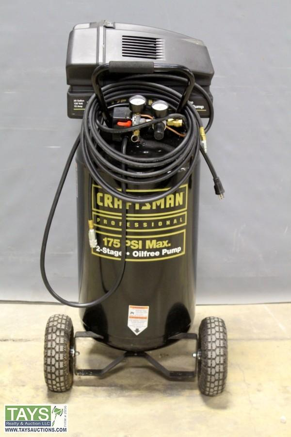 Tays Realty Auction Auction Absolute Online Auction Vehicles And Tools Item Craftsman 175 Psi Air Compressor
