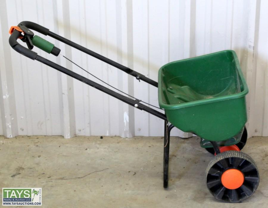 Tays Realty Auction Auction Absolute Online Auction Tractors Industrial Equipment Implements Item Scotts Speedy Green 3000 Seed Spreader